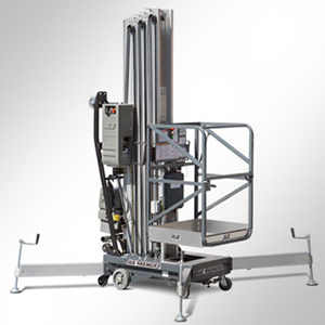Nacelles à mât vertical à propulsion manuelle
